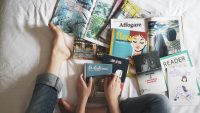 reading books and magazines