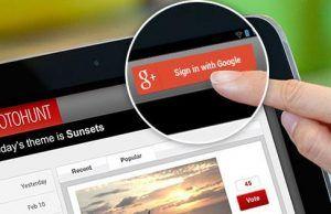 botón de iniciar sesión con Google