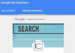 página principal de google my business