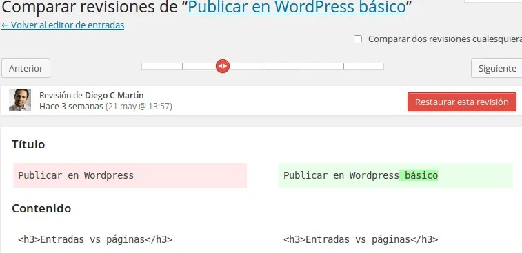 revisar versiones WordPress