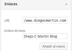 agregar enlace externo al menú WordPress