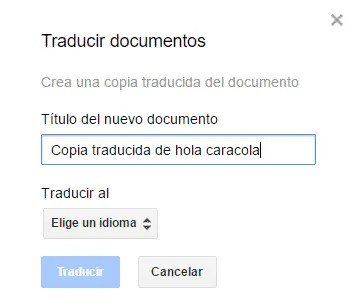 Traducción de documentos en Google Drive