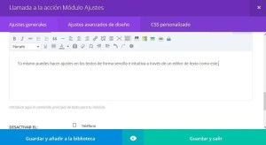 editor de texto visual en wordpress