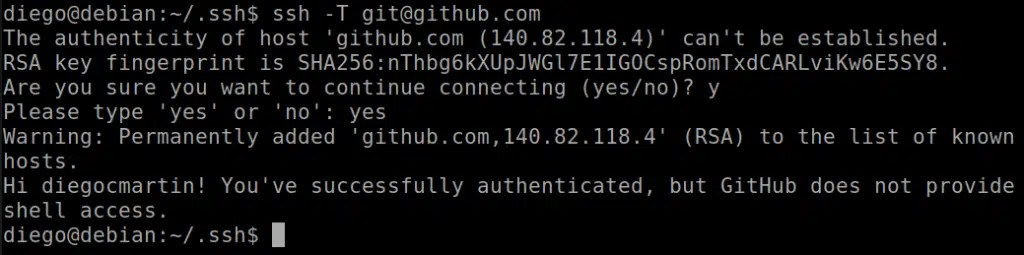 29 Autenticación en GitHub mediante SSH
