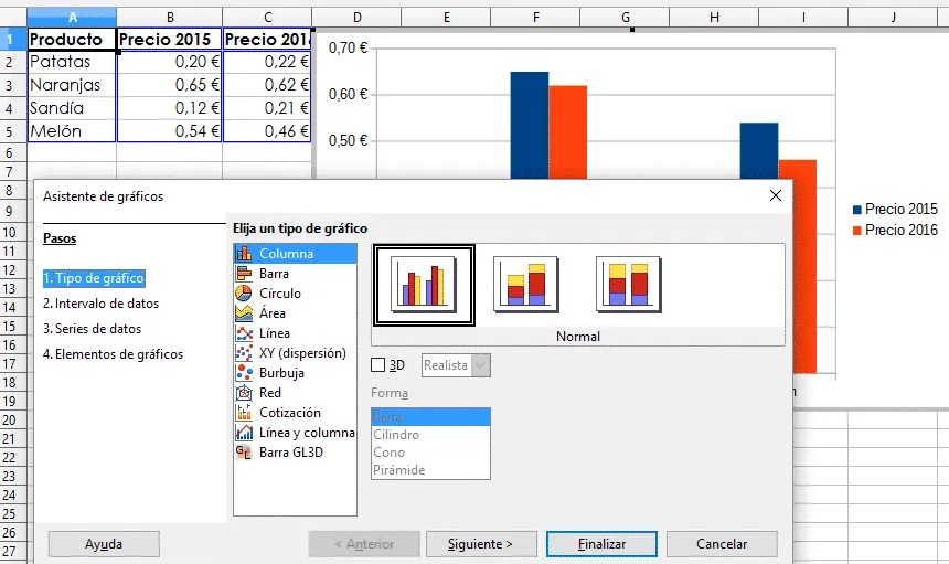 Insertar gráfico Libre Office Calc 01