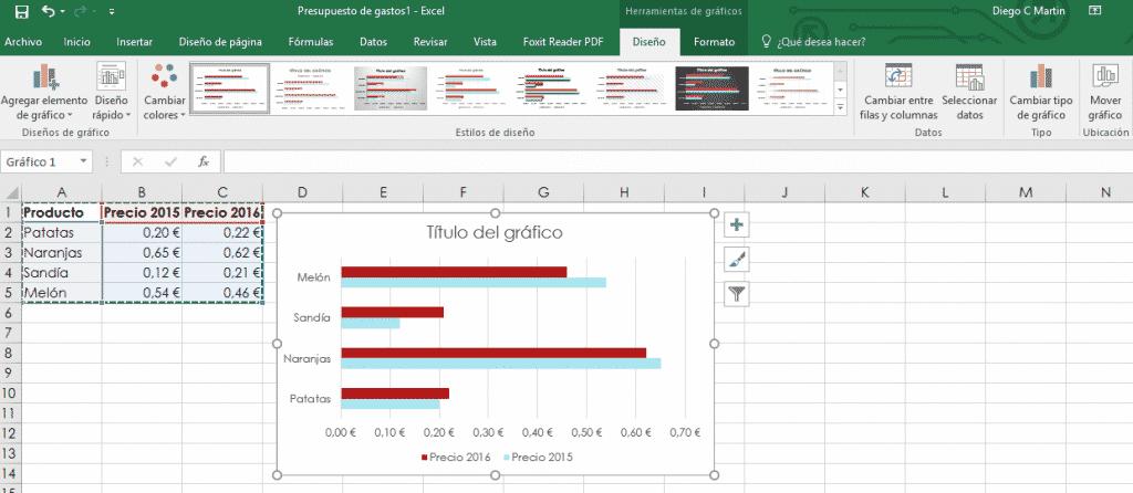 Insertar gráfico en Excel 02