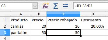 Referencias absolutas en Libre Office Calc