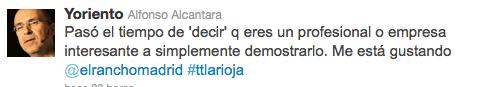 Tweet trip La Rioja el rancho madrid 2