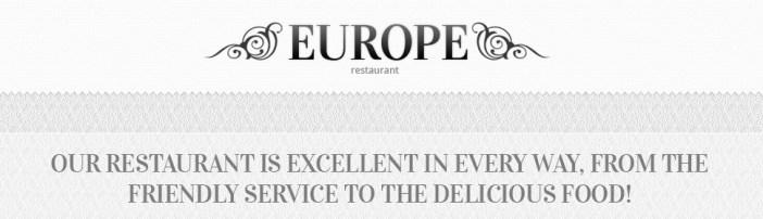 Europe Restaurant