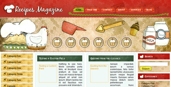 WP-Recipes Magazine WordPress Themes