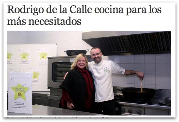 cuisine Rodrigo de la Calle pour les nécessiteux