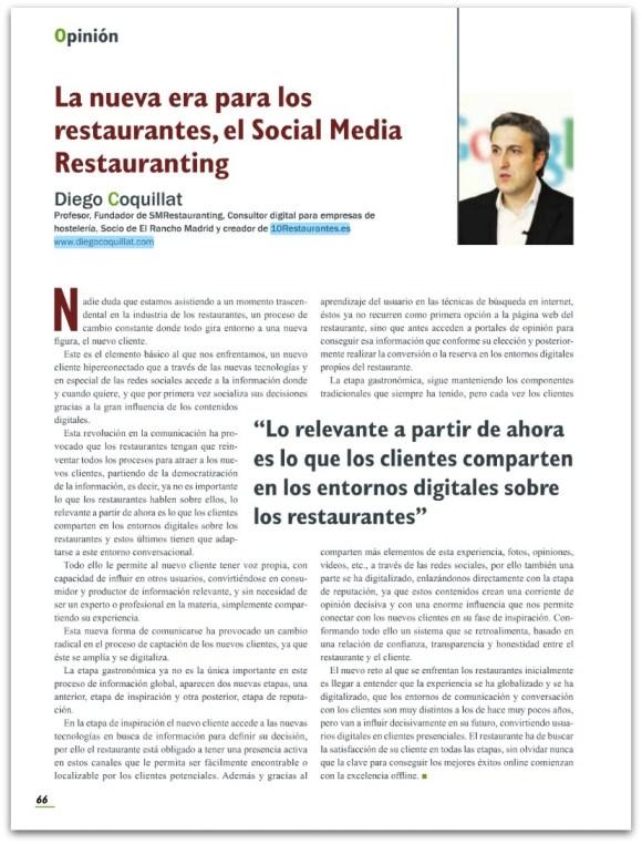 La nouvelle ère pour les restaurants, restauranting médias sociaux