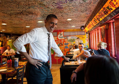 President-Obama at Sink-Restaurant-&-Bar-in-Boulder-Colo