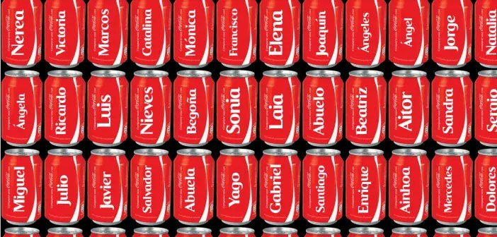 New names for Coca Cola cans