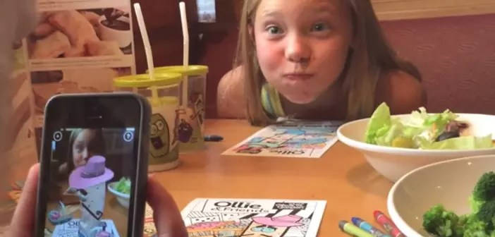 3D drawings for children in restaurants