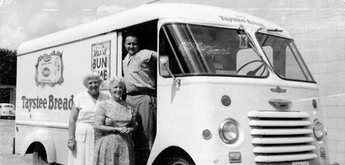 Bread van Taystee, furgoneta Chevrolet Step, approximately 1959