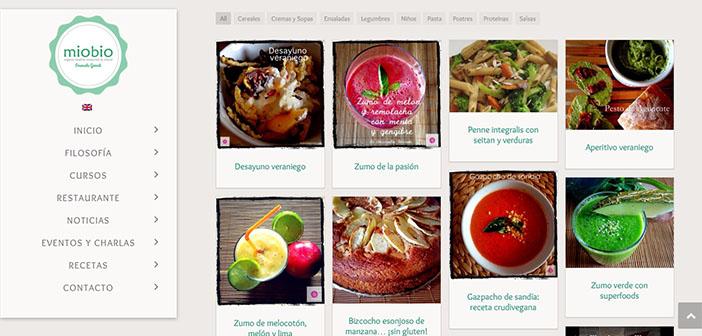Web del restaurante y escuela ecológica miobio