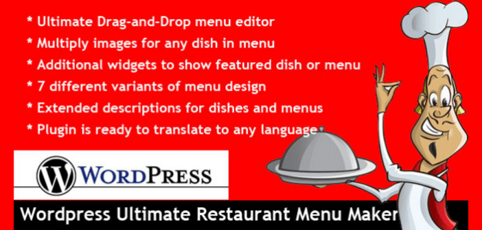 Wordpress ultime restaurant Menu Maker