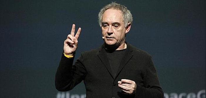 Ferran Adrià durante una conferencia