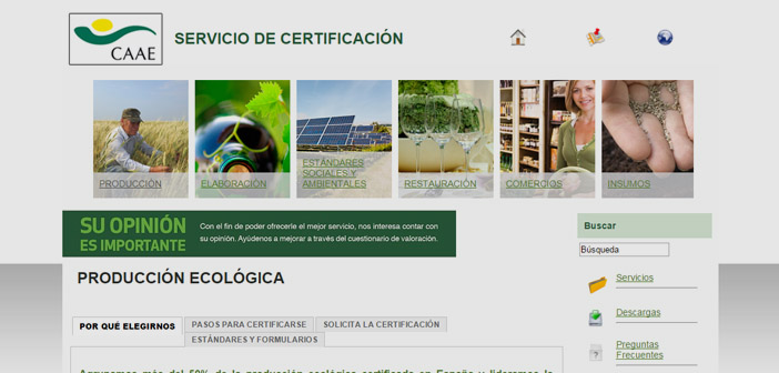 Certified organic production in Spain