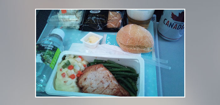 Air-Canada---Dinner-in-economy-class