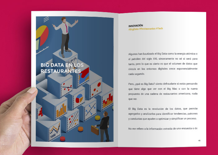 "learned pages of the book & quot; A new era in restaurants"" Diego Coquillat"