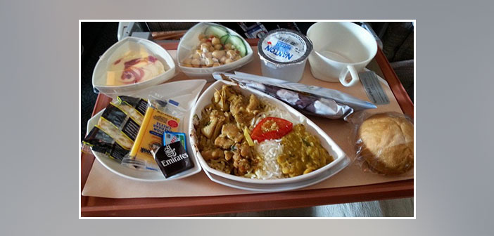Emirates-Airlines---Dinner-in-economy-class