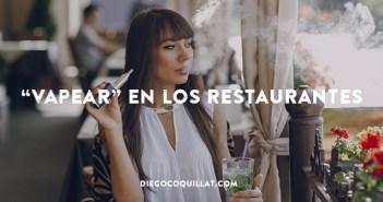 """Los restaurantes empiezan a decir """"no"""" a los cigarrillos electrónicos"""