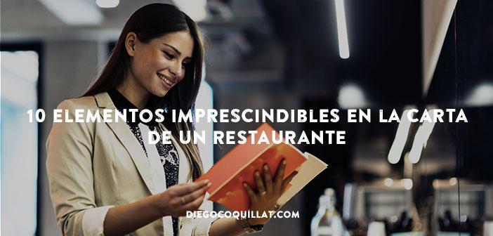 10elementos imprescindibles en la carta de un restaurante