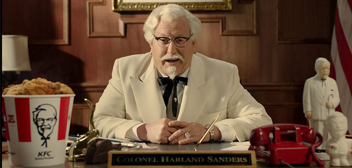 Colonel Sanders, who returned from the beyond in the form of advertisement to give a push and put it in its rightful place.