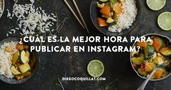 ¿Cuál es la mejor hora para que un restaurante publique en Instagram?