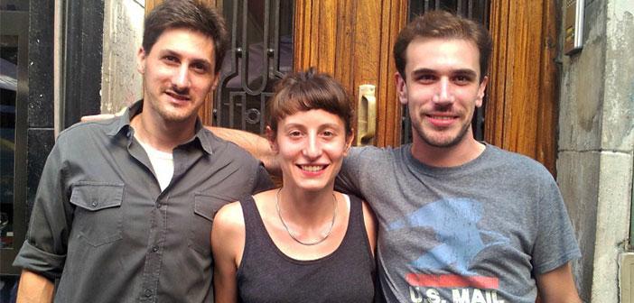 El equipo fundador de HoyPido, a la derecha Nicolás