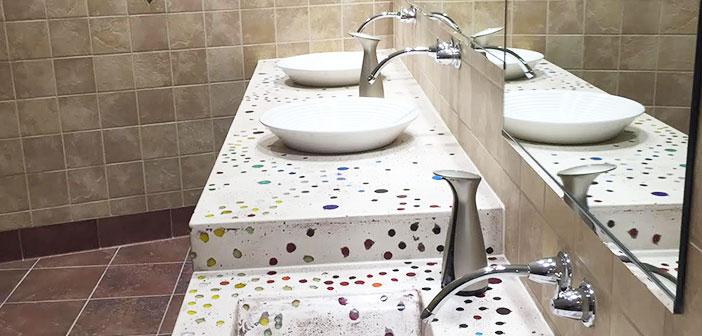 Hamilton, Ohio: The bathrooms were designed by artist Jan Brown Checco Cincinnati.