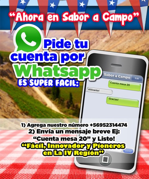 Promotion to ask the account Whatsapp