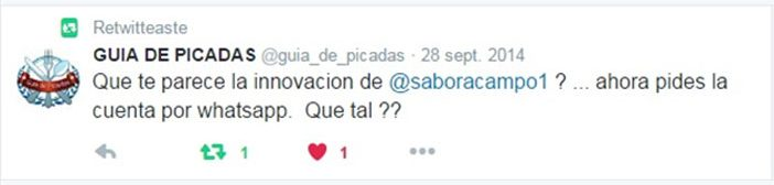 Sabor a twit citing Campo