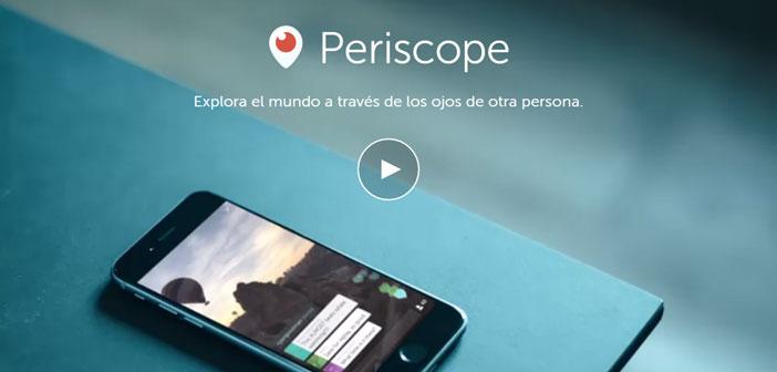 Periscope est un outil appartenant à Twitter pour transmettre de la vidéo en streaming.