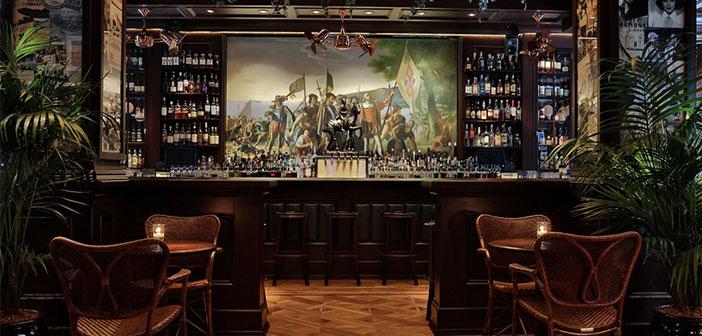 Bar queue noire à New York.