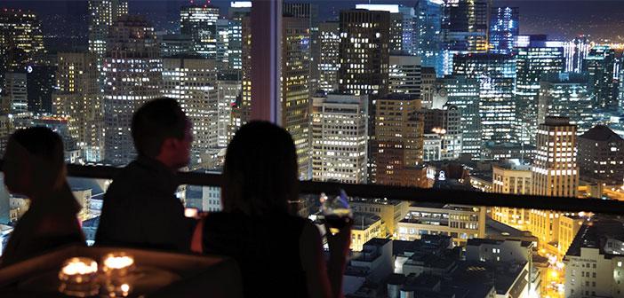 Las impresionantes vistas del restaurante Hotel Hilton en San Francisco.