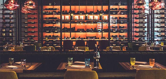 La vinoteca del restaunte Ciani Lugano en Suiza.