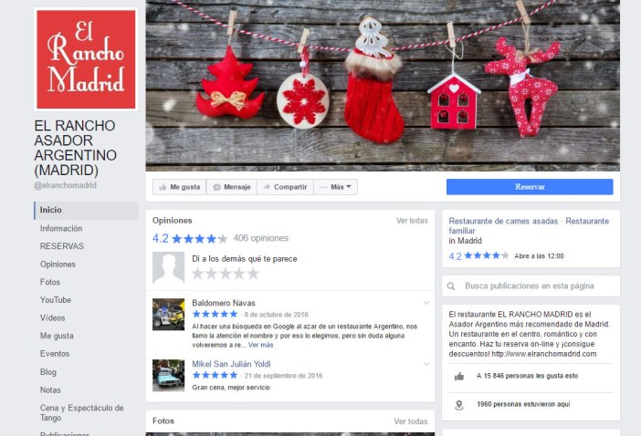 """The fanpage is your showcase to the public. If the """"physical"""" you care to the smallest detail Why not in the virtual? It goes without ever change your cover photo using some creativity Christmas, wishing the best to your clients at this time or reporting that have special menus."""