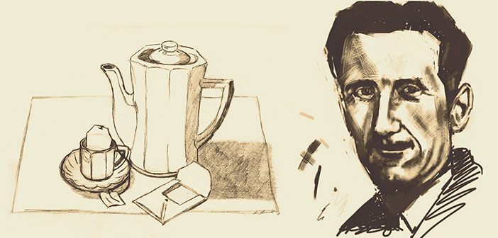 George Orwell and his essay 'A nice cup of tea'