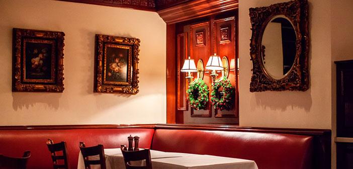 A l'intérieur du restaurant Trump Grill.