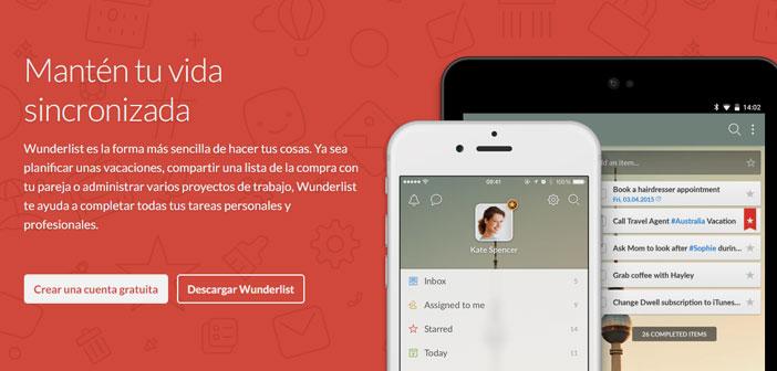 Wunderlist te permite crear fácilmente listas de tareas pendientes para compartir con tus empleados.
