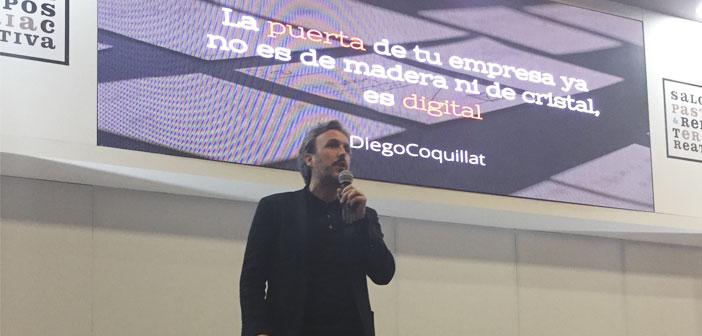 Diego Coquillat en su conferencia en XocoArt 2017 en Colombia