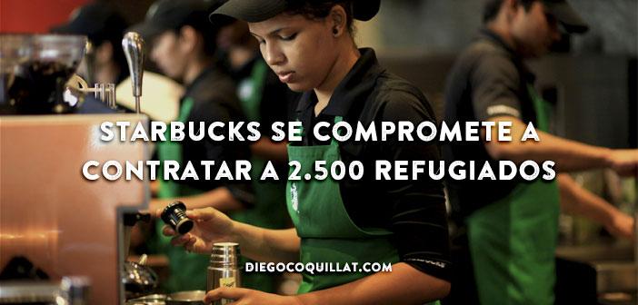 Starbucks se compromete a contratar a 2.500 refugiados