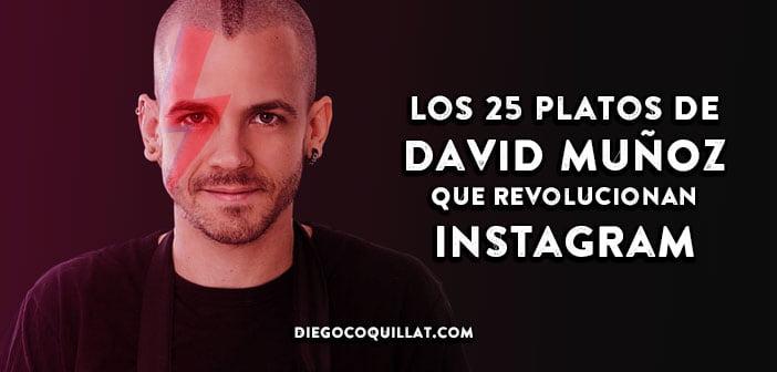 Los 25 platos de David Muñoz que revolucionan Instagram