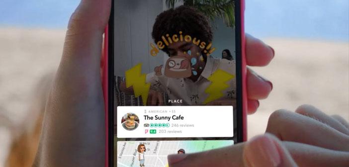 Maintenant, de Snapchat, les utilisateurs peuvent réserver une table dans OpenTable, O Perdants Reservable, voir les photos de tous les lieux qui vous intéressent ou même avis sur le restaurant où ils ont vu ce plat comme quelqu'un succulent et coloré a accroché.