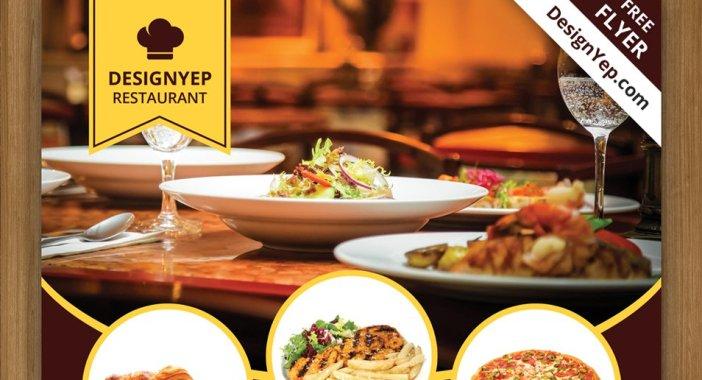 Free-Restaurant-Flyer-PSD-modèle