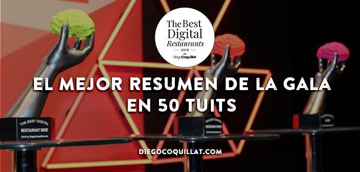 Premios TheBestDigitalRestaurants2018: el mejor resumen de la gala en 50 tuits