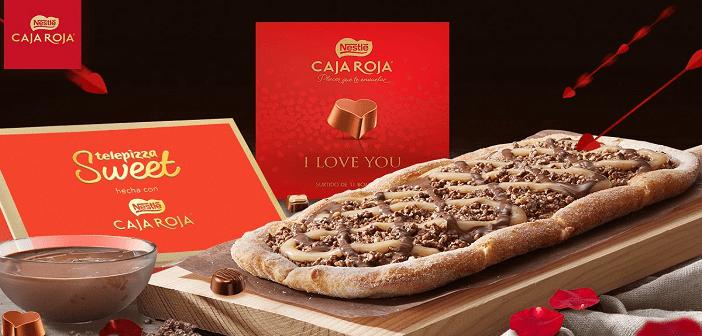 Ya está aquí la pizza de chocolate de Telepizza y Nestlé